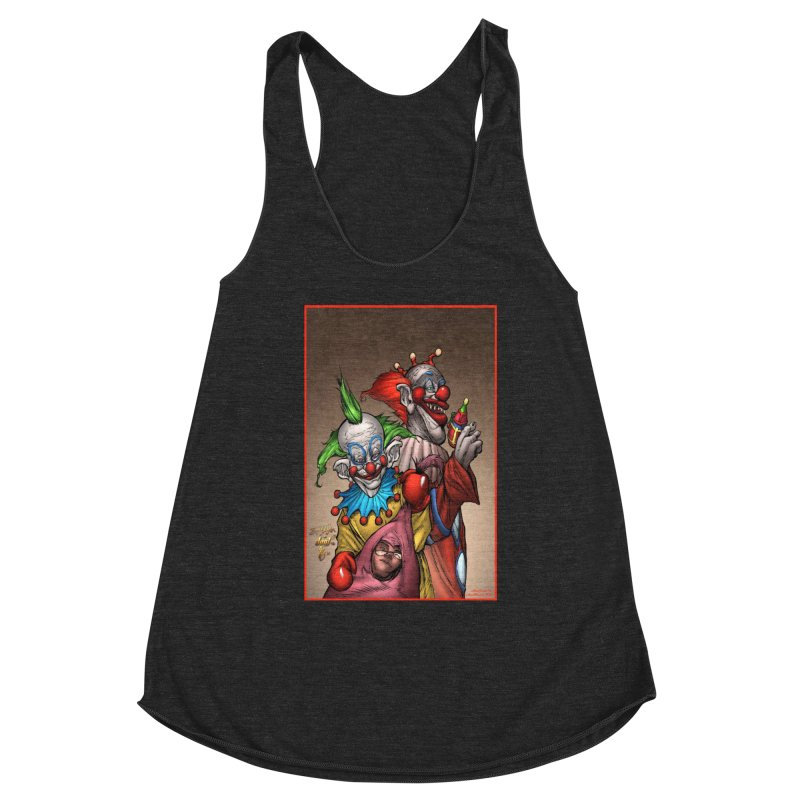 Killer Klowns Women's Racerback Triblend Tank by Evolution Comics INC