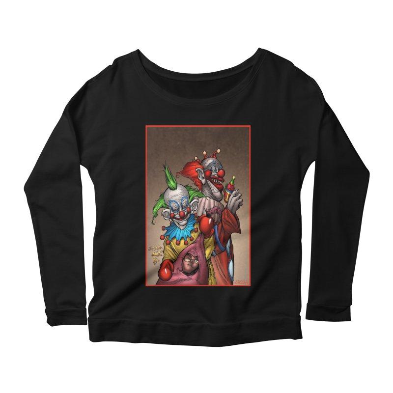 Killer Klowns Women's Scoop Neck Longsleeve T-Shirt by Evolution Comics INC