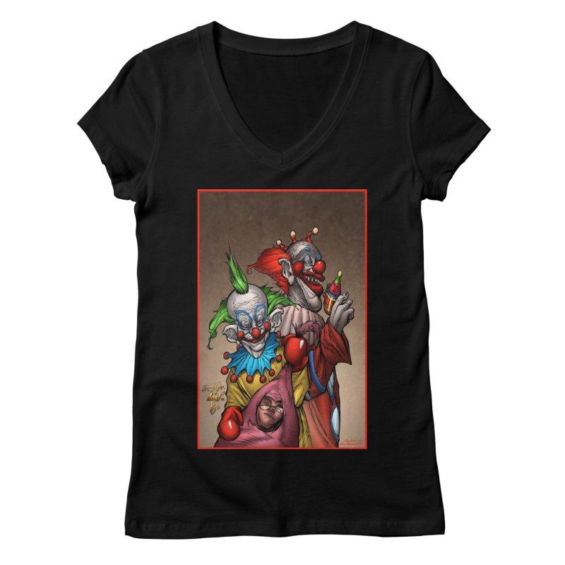 Killer Klowns Women's Regular V-Neck by Evolution Comics INC