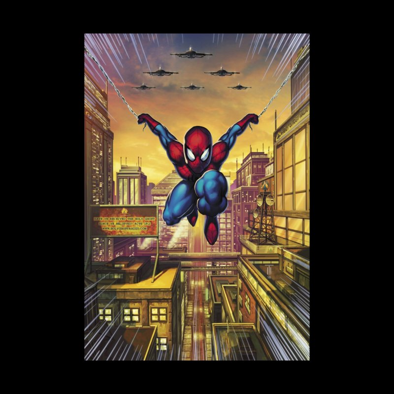 Spiderman Through the City Men's T-Shirt by Evolution Comics INC