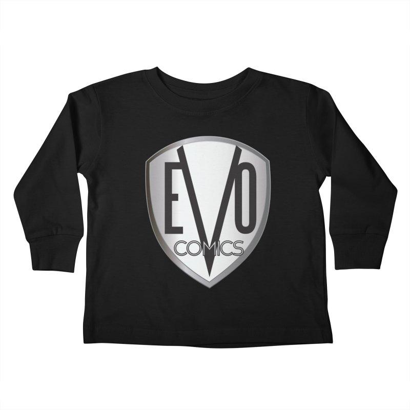 Evo Comics Original Logo Kids Toddler Longsleeve T-Shirt by Evolution Comics INC