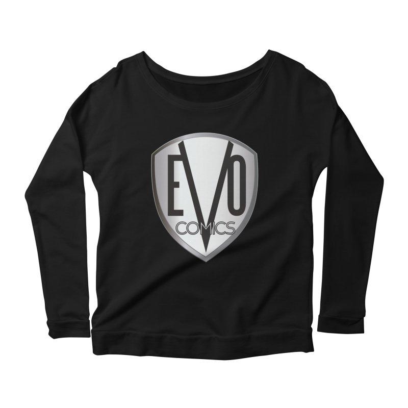 Evo Comics Original Logo Women's Longsleeve T-Shirt by Evolution Comics INC