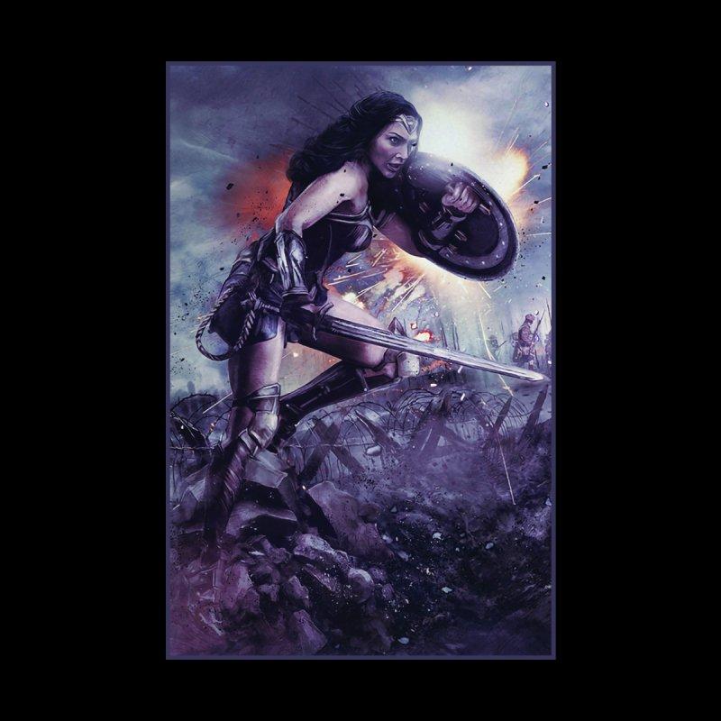 Wonder Woman Action - Gal Gadot Men's T-Shirt by Evolution Comics INC