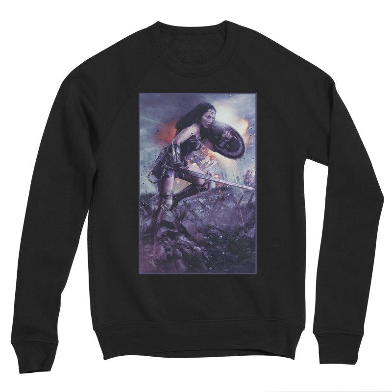 Wonder Woman Action - Gal Gadot Men's Sweatshirt by Evolution Comics INC