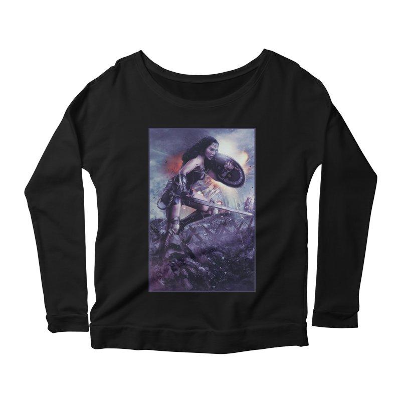 Wonder Woman Action - Gal Gadot Women's Longsleeve T-Shirt by Evolution Comics INC