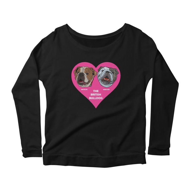 Matilda and Winston - The British Bulldogs Women's Longsleeve T-Shirt by Evolution Comics INC