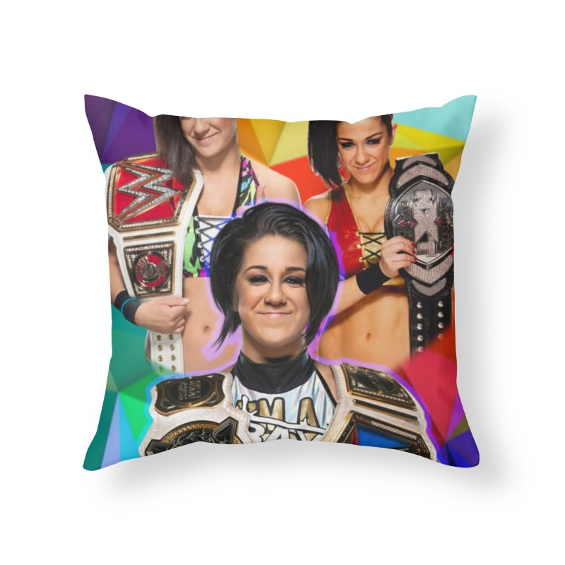 Bayley Version 2 Home Throw Pillow by Evolution Comics INC