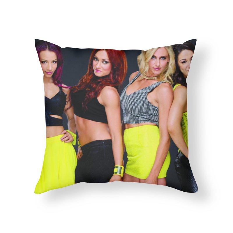 Four Horsewomen of WWE Home Throw Pillow by Evolution Comics INC