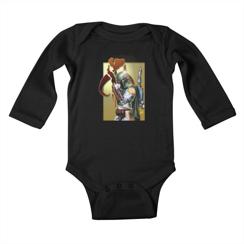 Boba Fett Kids Baby Longsleeve Bodysuit by EvoComicsInc's Artist Shop