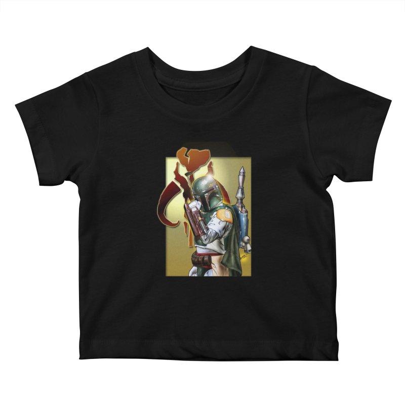 Boba Fett Kids Baby T-Shirt by EvoComicsInc's Artist Shop