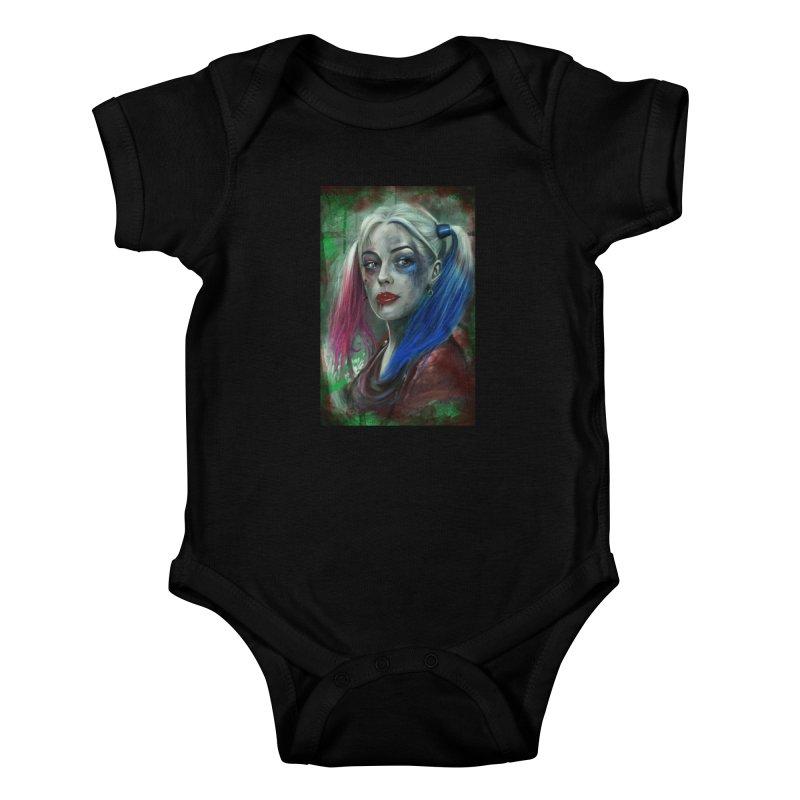Harly Quinn Suicide Squad Kids Baby Bodysuit by EvoComicsInc's Artist Shop