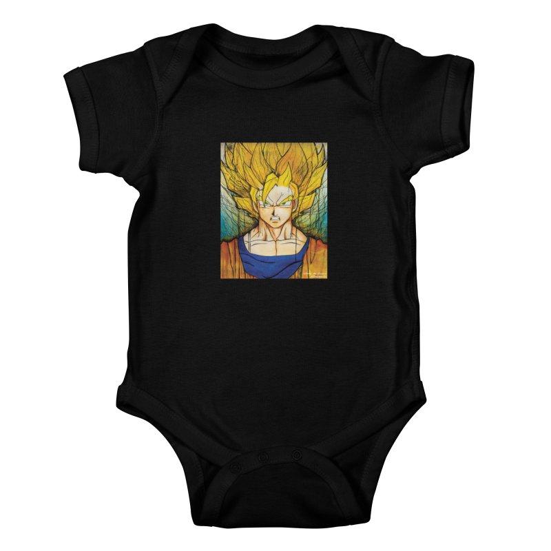 Dragon Ball Z - Goku Kids Baby Bodysuit by EvoComicsInc's Artist Shop