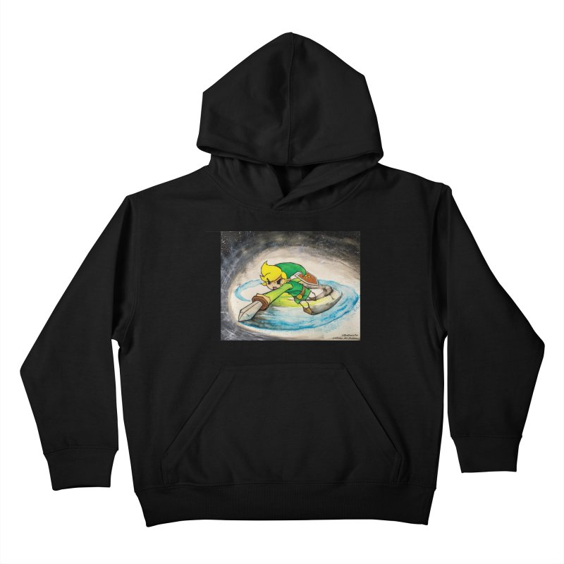 Legend Of Zelda - Link Kids Pullover Hoody by EvoComicsInc's Artist Shop