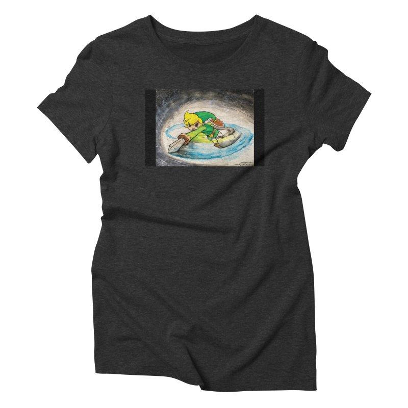 Legend Of Zelda - Link Women's Triblend T-shirt by EvoComicsInc's Artist Shop