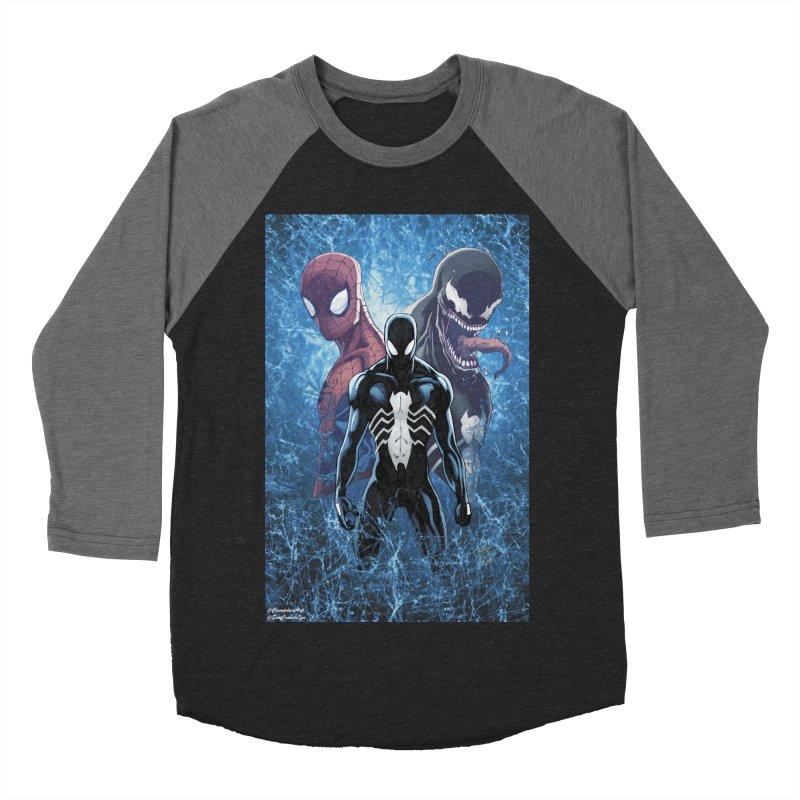 Spiderman - Black Suit Women's Baseball Triblend Longsleeve T-Shirt by EvoComicsInc's Artist Shop