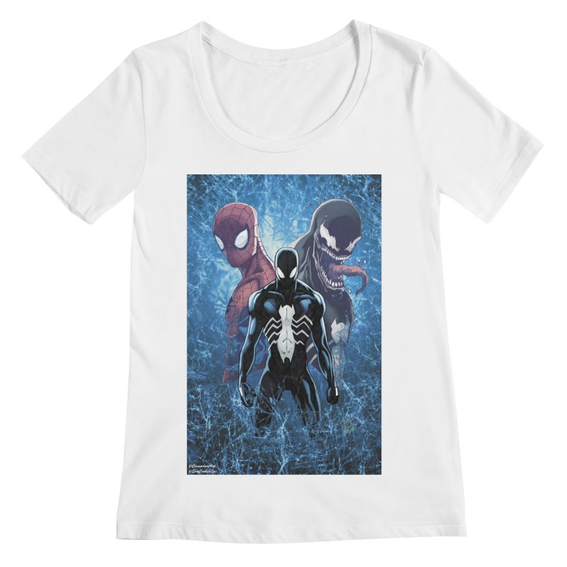 Spiderman - Black Suit Women's Regular Scoop Neck by Evolution Comics INC