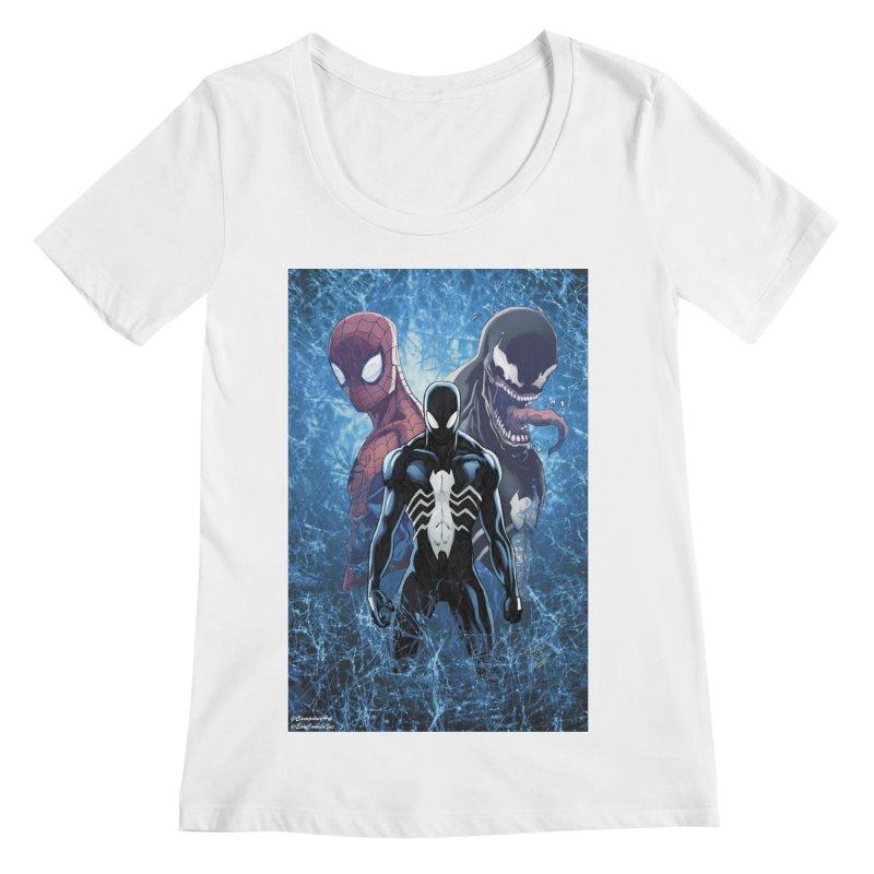 Spiderman - Black Suit Women's Regular Scoop Neck by EvoComicsInc's Artist Shop