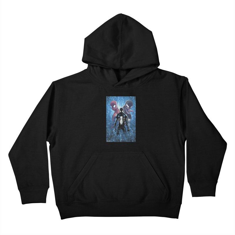 Spiderman - 3 Spidys Kids Pullover Hoody by EvoComicsInc's Artist Shop