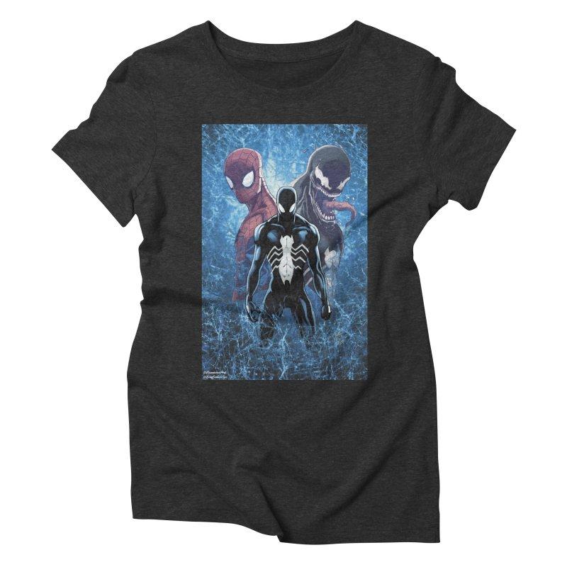 Spiderman - 3 Spidys Women's Triblend T-shirt by EvoComicsInc's Artist Shop