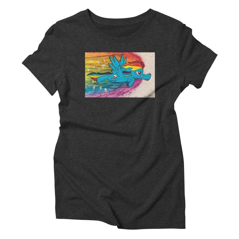 My Little Pony - Dashing Dash Women's Triblend T-Shirt by EvoComicsInc's Artist Shop