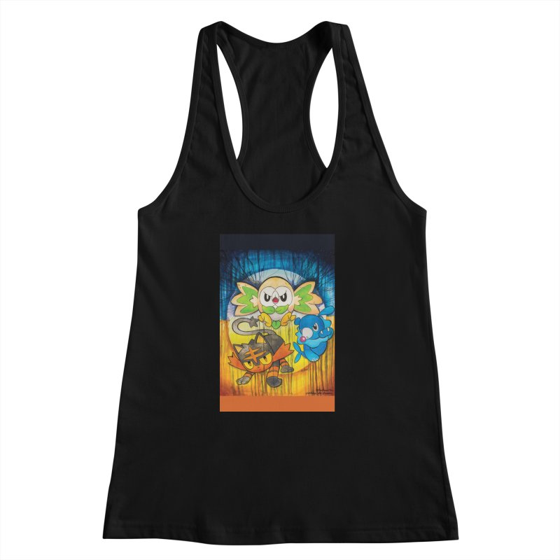Pokemon - Sun & Moon Women's Racerback Tank by EvoComicsInc's Artist Shop