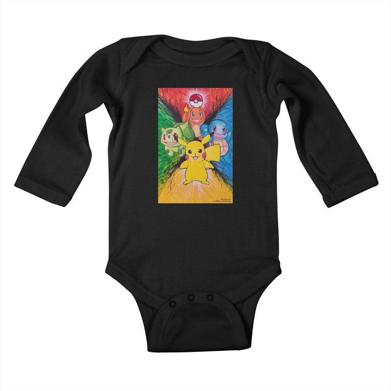 Pokemon Originals Kids Baby Longsleeve Bodysuit by EvoComicsInc's Artist Shop