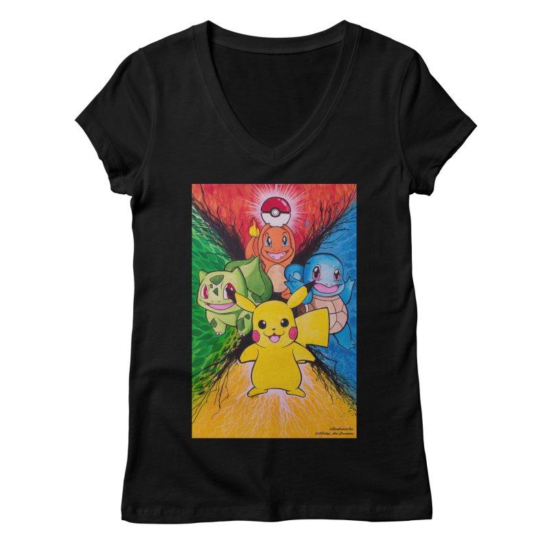 Pokemon Originals Women's V-Neck by EvoComicsInc's Artist Shop