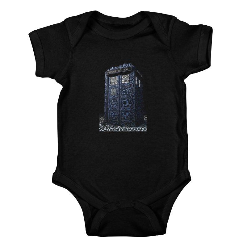 Dr. Who Tardis Kids Baby Bodysuit by EvoComicsInc's Artist Shop