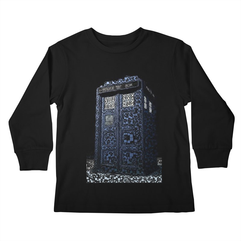 Dr. Who Tardis Kids Longsleeve T-Shirt by EvoComicsInc's Artist Shop
