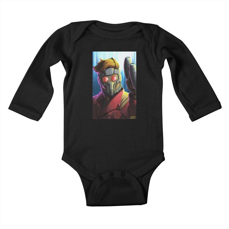 Starlord Kids Baby Longsleeve Bodysuit by EvoComicsInc's Artist Shop