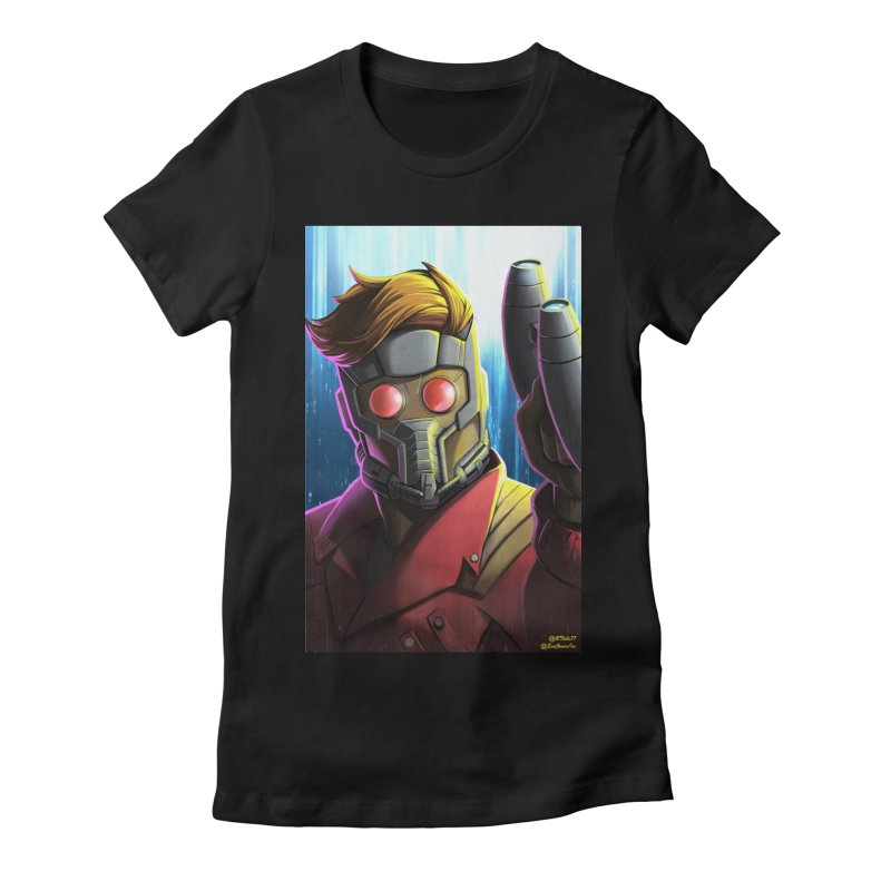 Starlord Women's Fitted T-Shirt by EvoComicsInc's Artist Shop