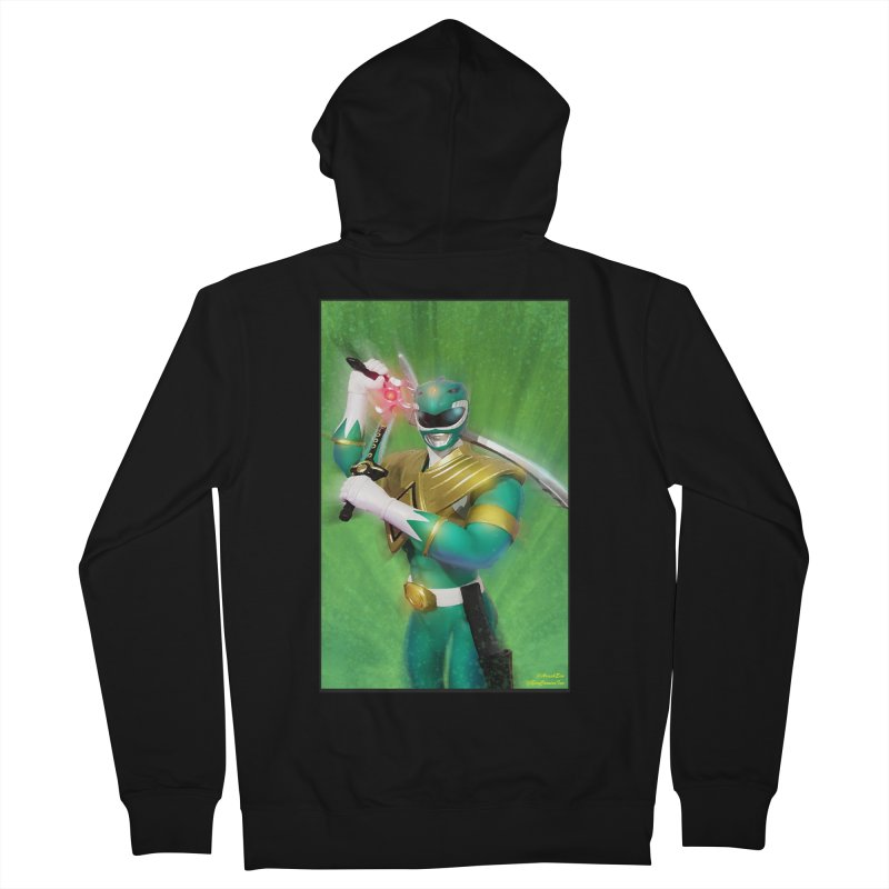Green Ranger Women's Zip-Up Hoody by EvoComicsInc's Artist Shop