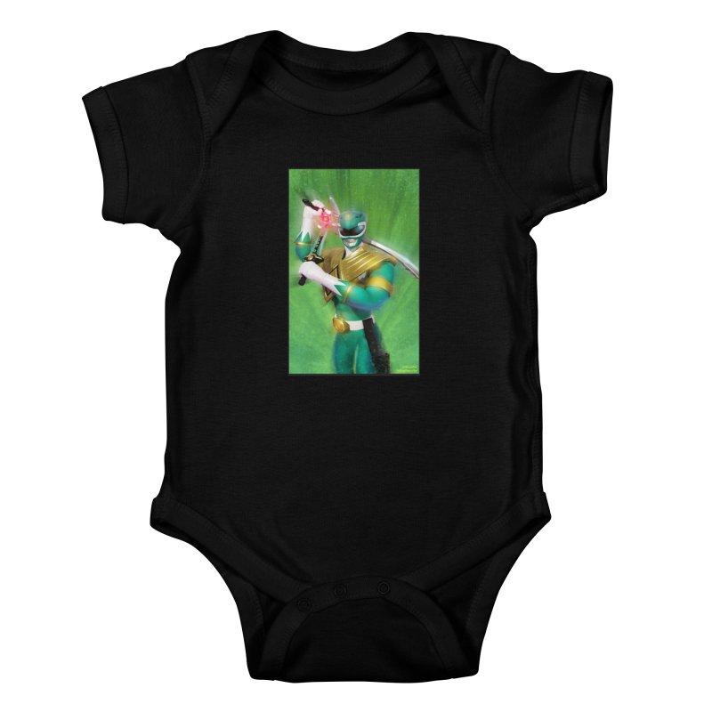 Green Ranger Kids Baby Bodysuit by EvoComicsInc's Artist Shop