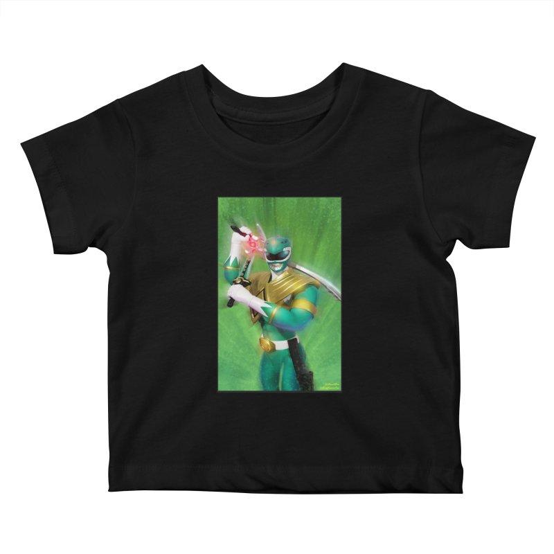 Green Ranger Kids Baby T-Shirt by EvoComicsInc's Artist Shop