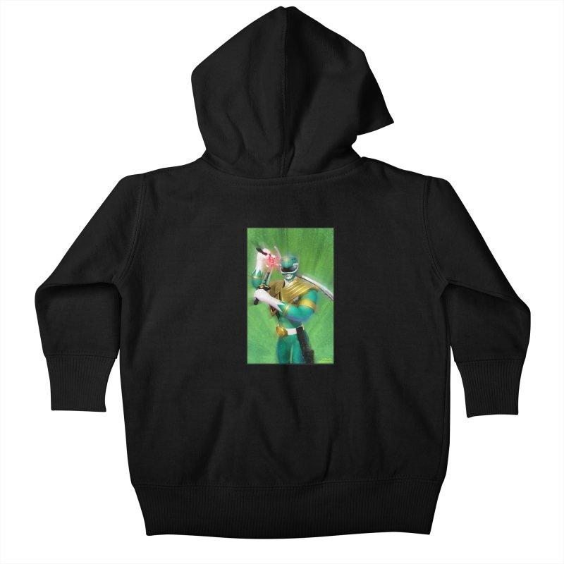 Green Ranger Kids Baby Zip-Up Hoody by EvoComicsInc's Artist Shop