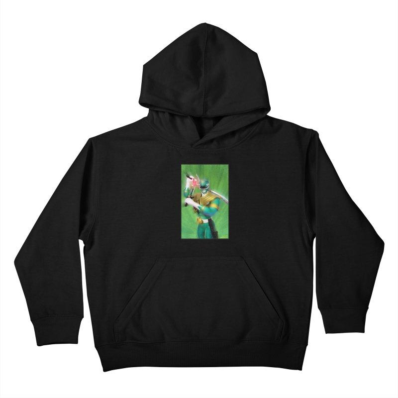 Green Ranger Kids Pullover Hoody by EvoComicsInc's Artist Shop