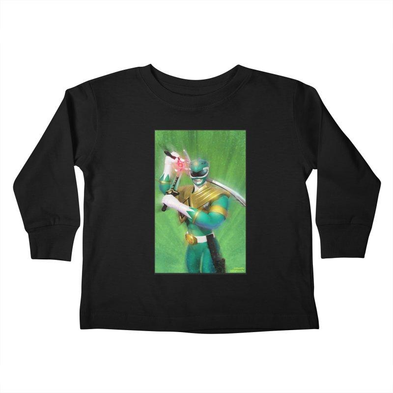 Green Ranger Kids Toddler Longsleeve T-Shirt by EvoComicsInc's Artist Shop