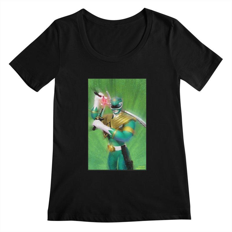 Green Ranger Women's Scoopneck by EvoComicsInc's Artist Shop