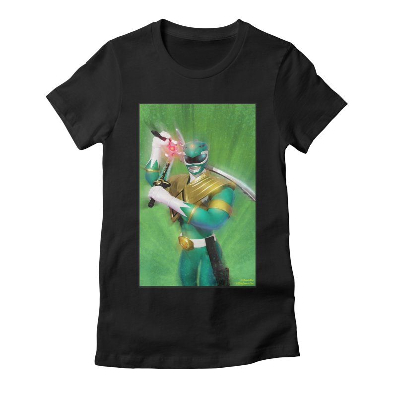 Green Ranger Women's Fitted T-Shirt by EvoComicsInc's Artist Shop