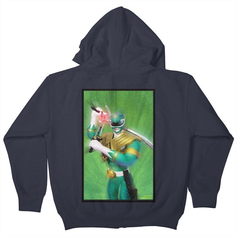 Green Ranger Kids Zip-Up Hoody by EvoComicsInc's Artist Shop