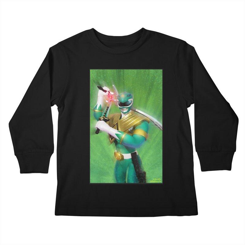 Green Ranger Kids Longsleeve T-Shirt by EvoComicsInc's Artist Shop