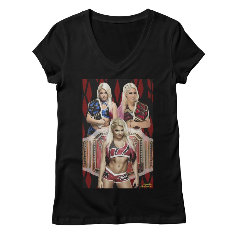 Alexa Bliss WWE Women's V-Neck by EvoComicsInc's Artist Shop