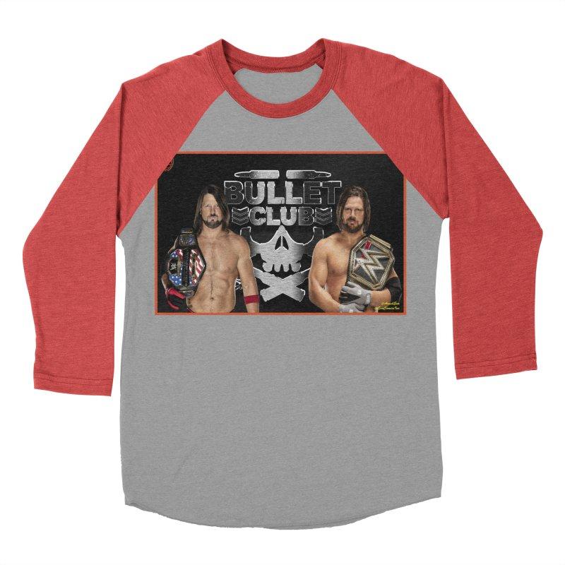 AJ Styles Men's Baseball Triblend T-Shirt by EvoComicsInc's Artist Shop