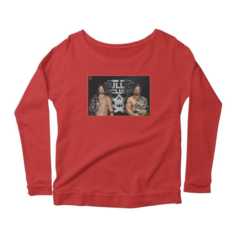 AJ Styles Women's Longsleeve Scoopneck  by EvoComicsInc's Artist Shop