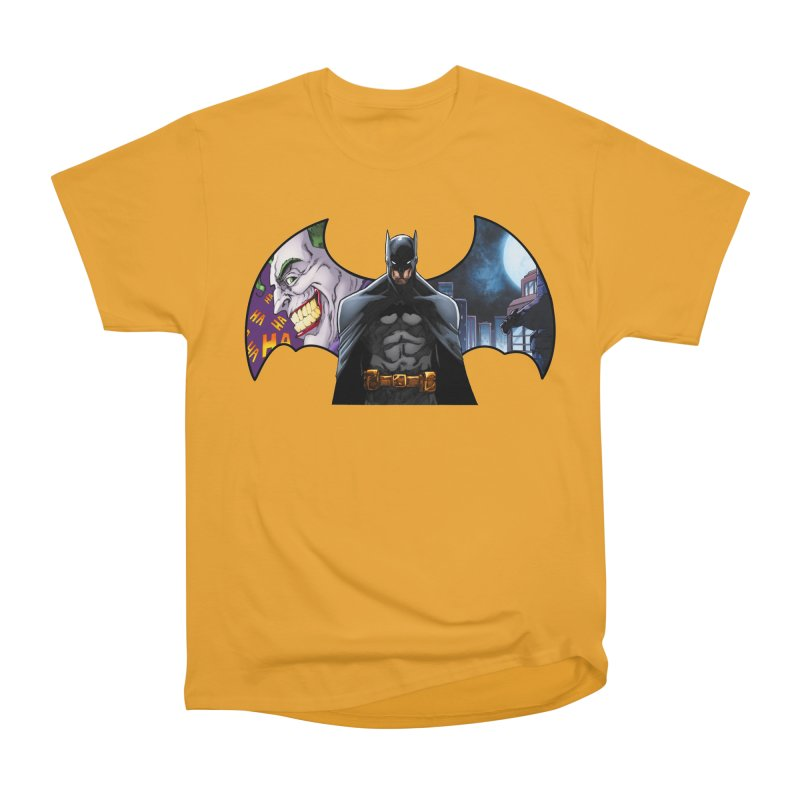 Batman Logo Women's Heavyweight Unisex T-Shirt by EvoComicsInc's Artist Shop