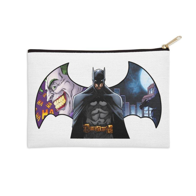 Batman Logo Accessories Zip Pouch by EvoComicsInc's Artist Shop