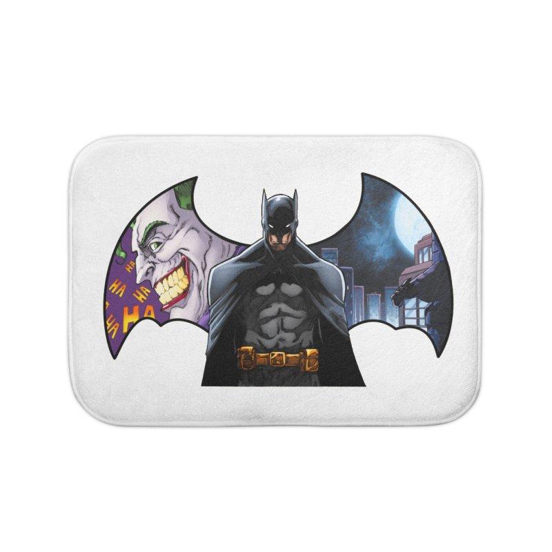 Batman Logo Home Bath Mat by EvoComicsInc's Artist Shop