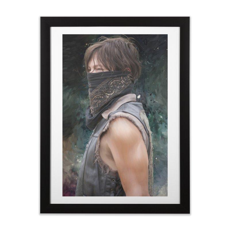 Daryl Dixon Bandanna Home Framed Fine Art Print by EvoComicsInc's Artist Shop