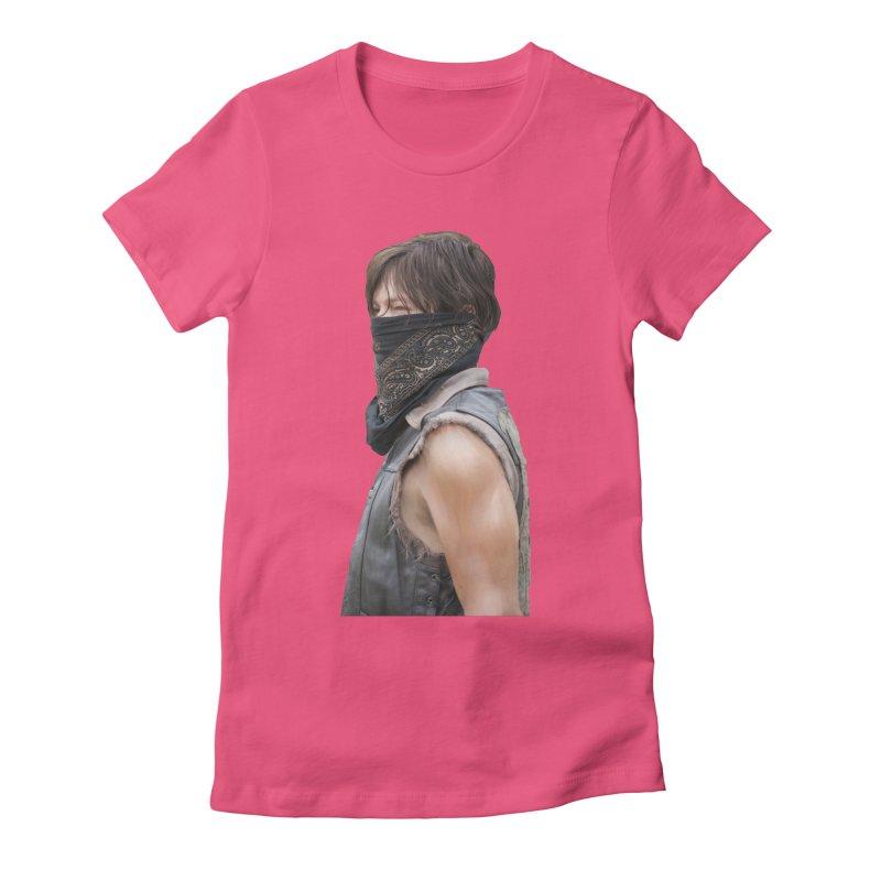 Daryl Dixon Bandanna Women's Fitted T-Shirt by EvoComicsInc's Artist Shop