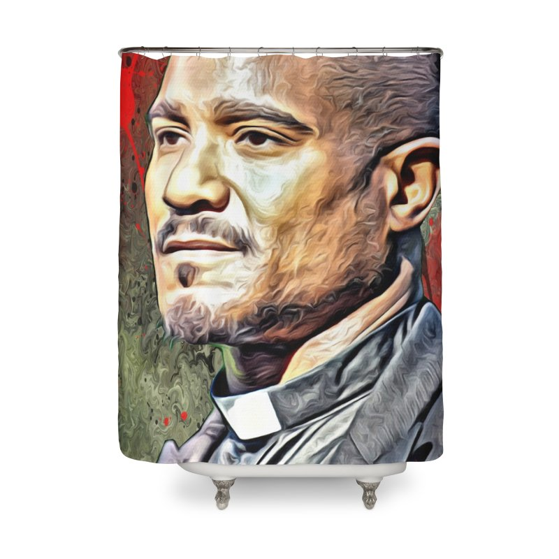 Father Gabriel Stokes - The Walking Dead Home Shower Curtain by EvoComicsInc's Artist Shop